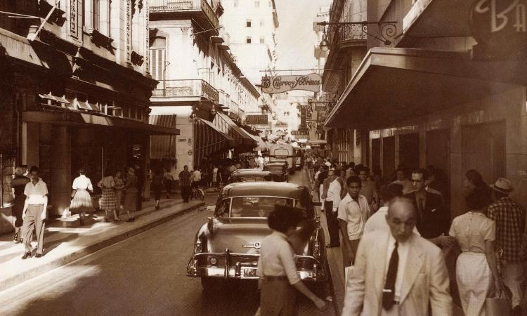 Calle San Lázaro, centro de La Habana, años 50